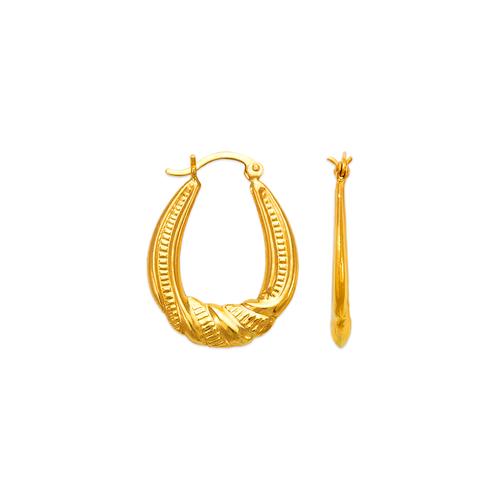 547-139 Hollow Shrimp Hoop Earrings