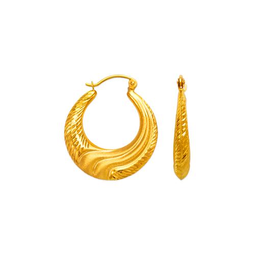 547-140 Hollow Shrimp Hoop Earrings