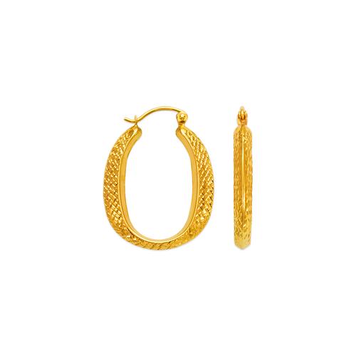 547-141 Hollow Shrimp Hoop Earrings