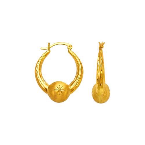 547-143 Hollow Shrimp Hoop Earrings