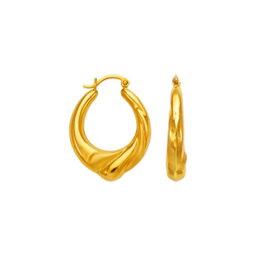 547-144 Hollow Shrimp Hoop Earrings