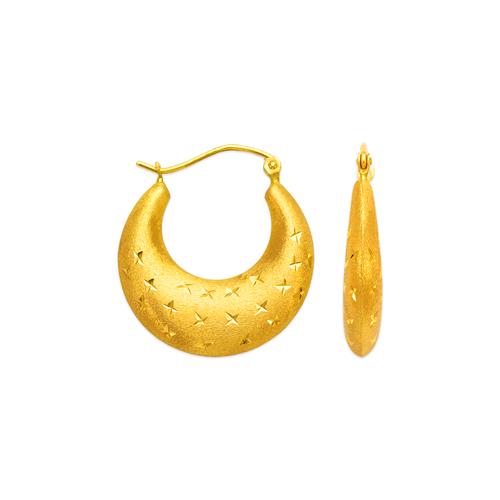 547-146 Hollow Shrimp Hoop Earrings