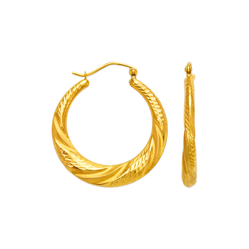 547-147 Hollow Shrimp Hoop Earrings