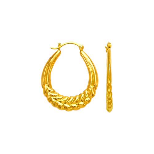 547-149 Hollow Shrimp Hoop Earrings