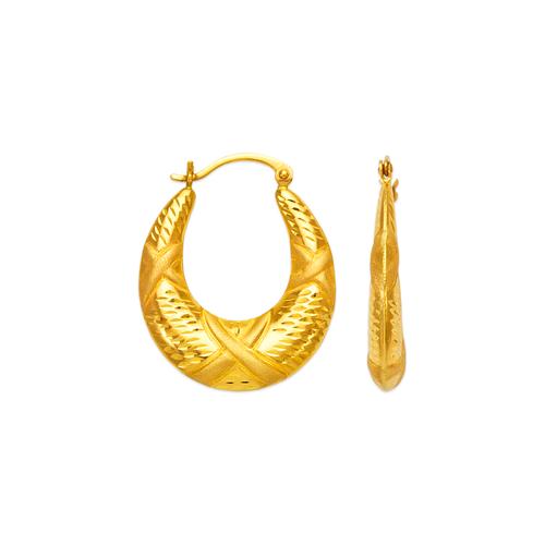 547-150 Hollow Shrimp Hoop Earrings