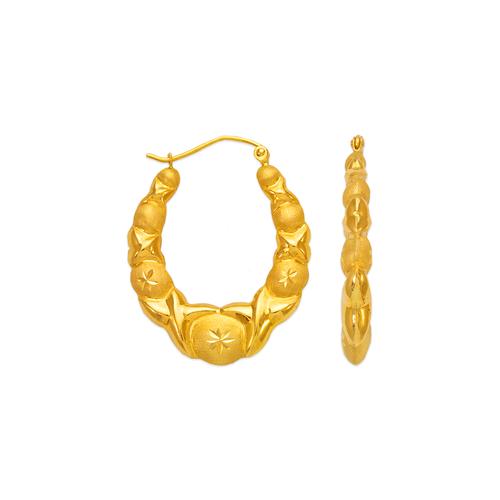 547-151 Hollow Shrimp Hoop Earrings