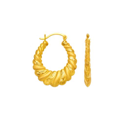 547-159 Hollow Shrimp Hoop Earrings