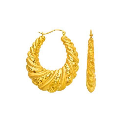 547-160 Hollow Shrimp Hoop Earrings
