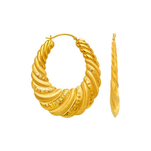 547-161 Hollow Shrimp Hoop Earrings