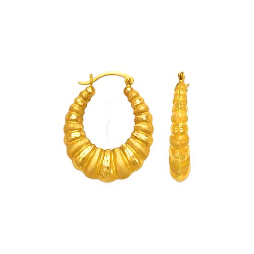 547-162 Hollow Shrimp Hoop Earrings