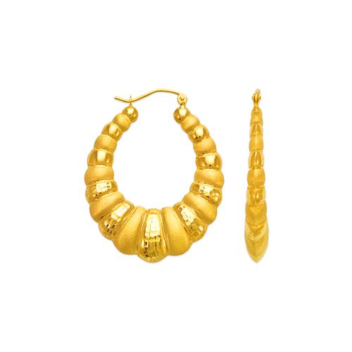 547-163 Hollow Shrimp Hoop Earrings