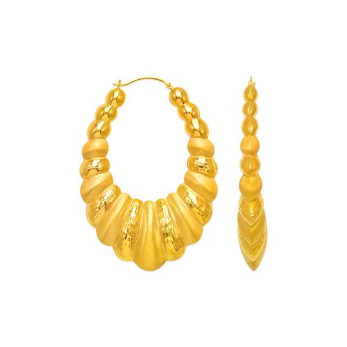 547-166 Hollow Shrimp Hoop Earrings