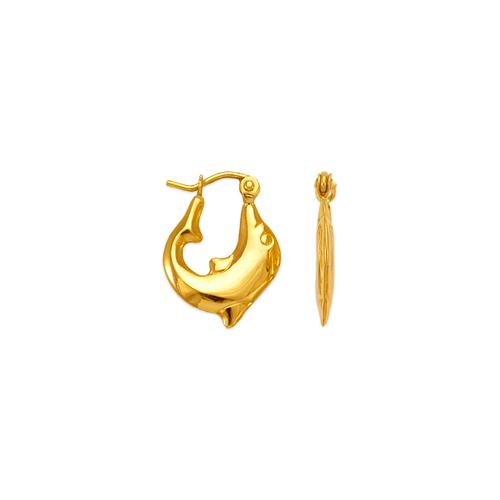 547-167 Hollow Shrimp Hoop Earrings