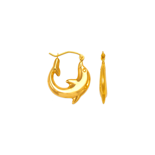 547-168 Hollow Shrimp Hoop Earrings