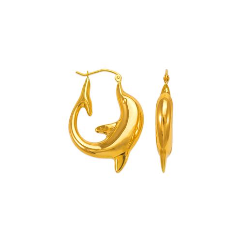 547-169 Hollow Shrimp Hoop Earrings