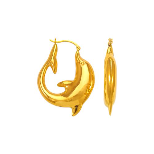 547-170 Hollow Shrimp Hoop Earrings