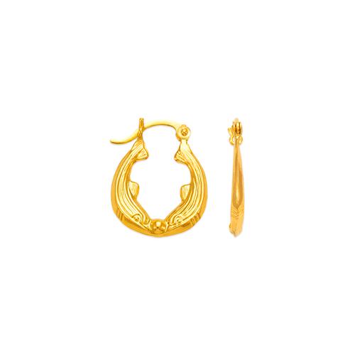 547-171 Hollow Shrimp Hoop Earrings