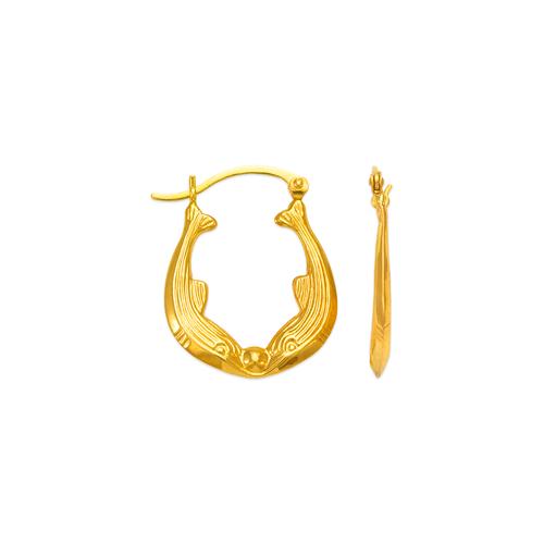547-172 Hollow Shrimp Hoop Earrings