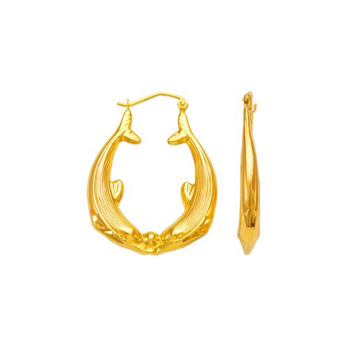 547-173 Hollow Shrimp Hoop Earrings