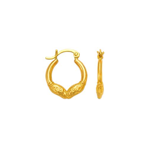 547-175 Hollow Shrimp Hoop Earrings