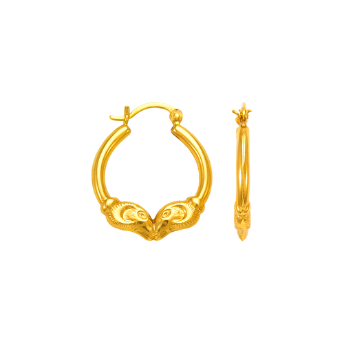 547-176 Hollow Shrimp Hoop Earrings