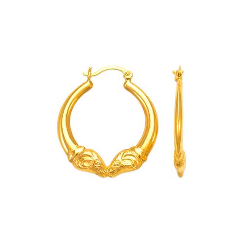 547-177 Hollow Shrimp Hoop Earrings