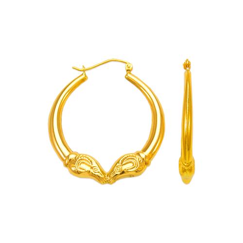 547-178 Hollow Shrimp Hoop Earrings