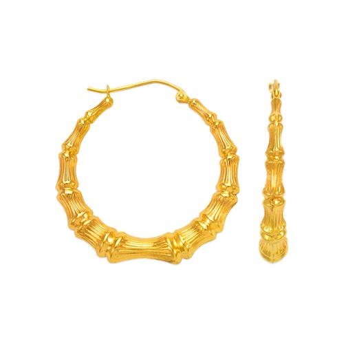 546-991S Bamboo Hoop Earrings