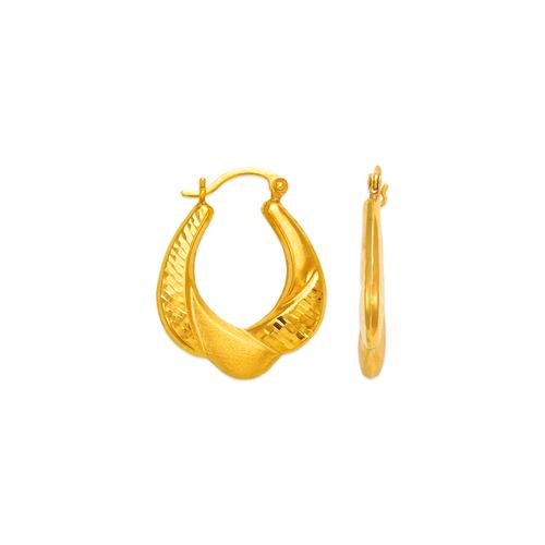 547-187 Hollow Shrimp Hoop Earrings