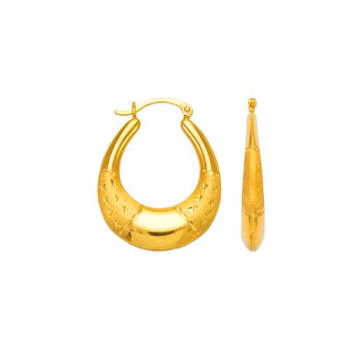 547-188 Hollow Shrimp Hoop Earrings