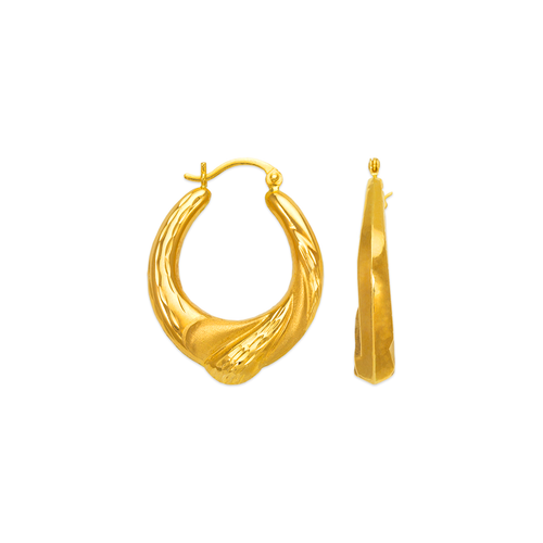 547-189 Hollow Shrimp Hoop Earrings