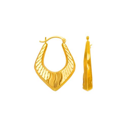 547-190 Hollow Shrimp Hoop Earrings