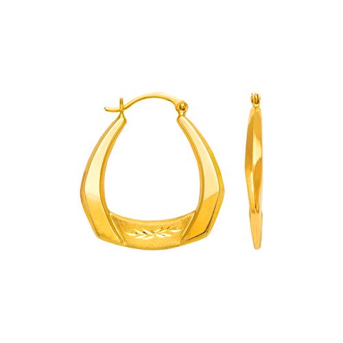 547-191 Hollow Shrimp Hoop Earrings