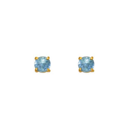 543-101LB Light Blue Aquamarine Birthstone CZ Screwback Stud Earrings