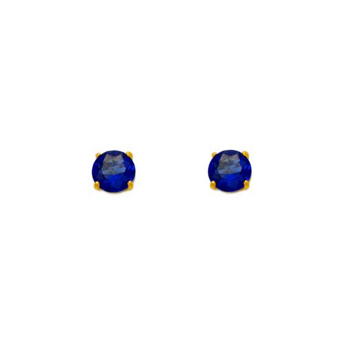 543-101BL Dark Blue Sapphire Birthstone CZ Screwback Stud Earrings