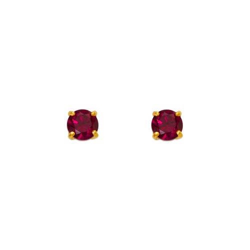 543-101DR Dark Red Garnet Birthstone CZ Screwback Stud Earrings