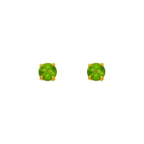 543-101LG Light Green Peridot Birthstone CZ Screwback Stud Earrings