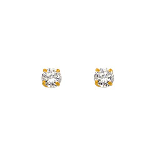 543-101WH White Birthstone CZ Screwback Stud Earrings