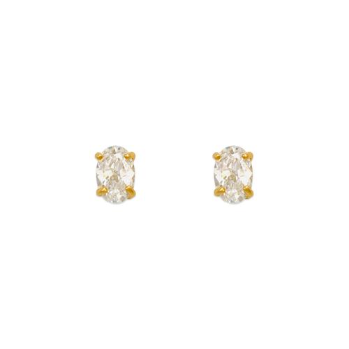 543-111 Oval Cut CZ Stud Earrings