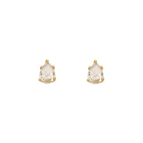 543-115 Teardrop Cut CZ Stud Earrings
