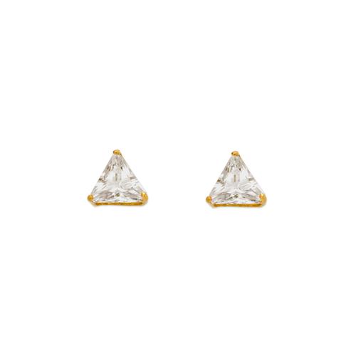 543-128 Triangle Cut CZ Stud Earrings