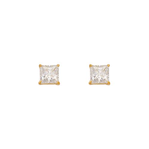 543-131 Princess Cut CZ Stud Earrings