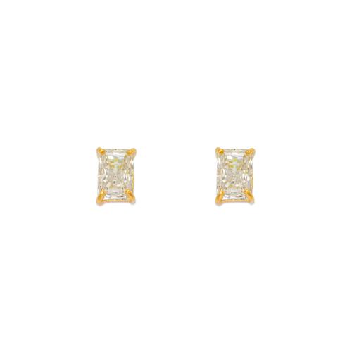 543-135 Cushion Cut CZ Stud Earrings