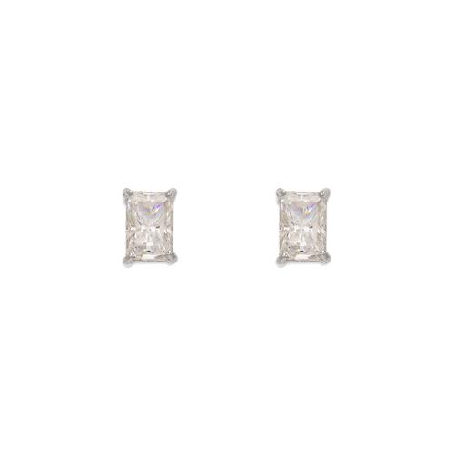 543-135W Cushion Cut CZ Stud Earrings
