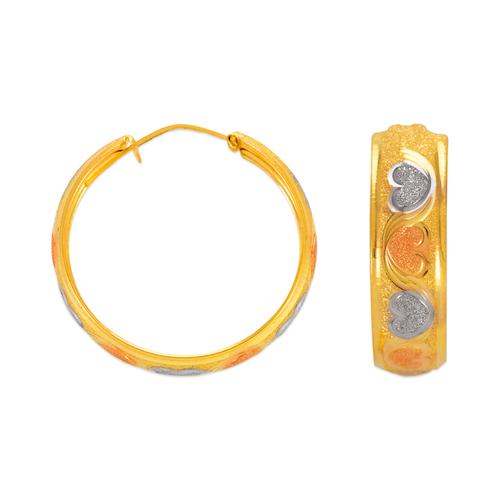 748-103 8mm Stamping Hoop Earrings