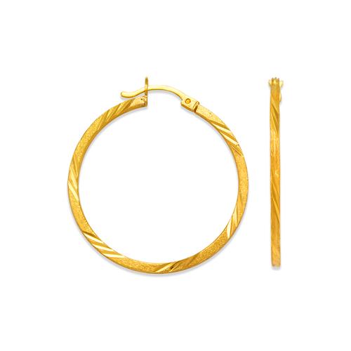 546-371S 1.7mm Square Tube Hoop Earrings