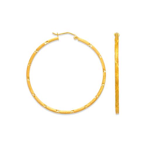 546-381S 1.5mm Square Tube Hoop Earrings
