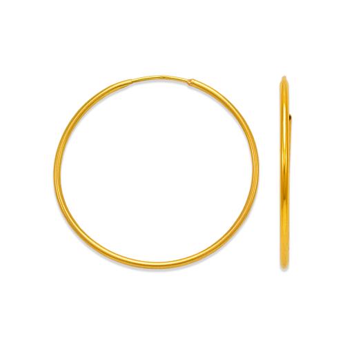 546-101S 1.2mm Round Tube Hoop Earrings