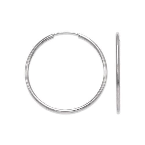 546-111WS 1.5mm Round Tube Hoop Earrings