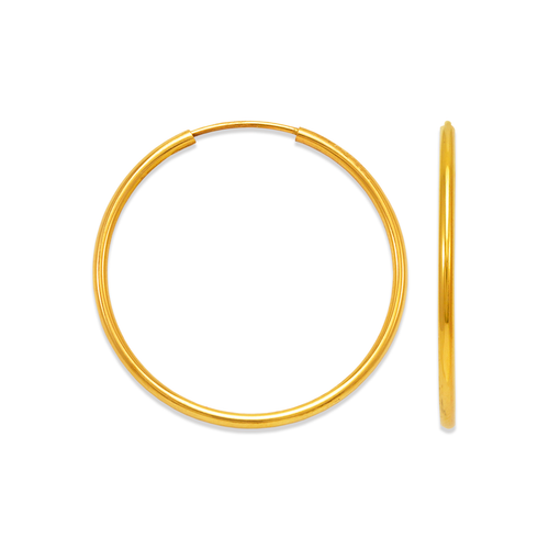 546-111S 1.5mm Round Tube Hoop Earrings